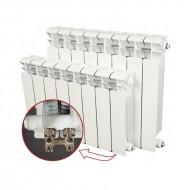 Биметалический радиатор Rifar Monolit VENTIL 500 (левый) 8 секций
