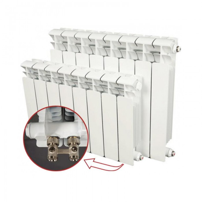 Биметалический радиатор Rifar Monolit VENTIL 500 (правый) 4 секции